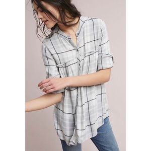 Anthropologie Cloth and Stone Plaid Swing Tunic XS